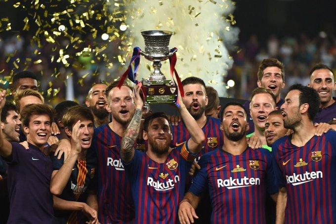 Ter Stegen, el mejor portero del mundo. Dembélé pide quedarse. Y primer título de la temporada para capitán Messi. Foto