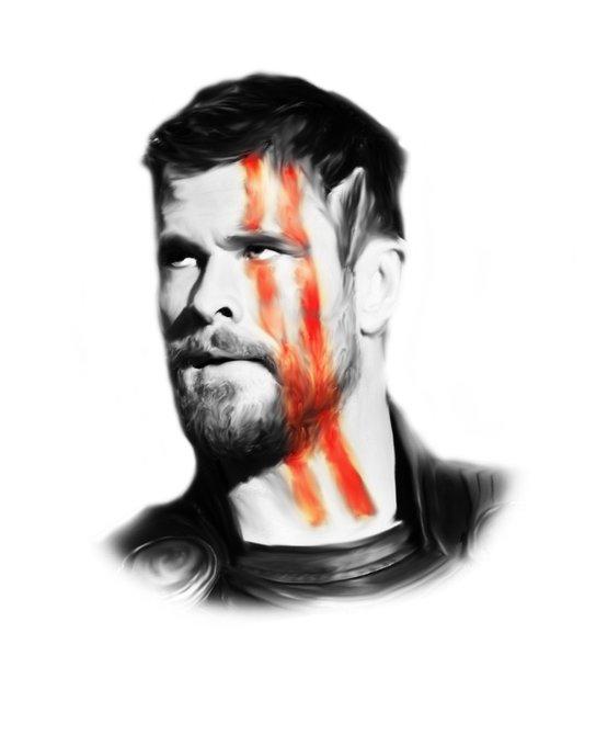 Happy birthday to Chris Hemsworth, the strongest avenger . .