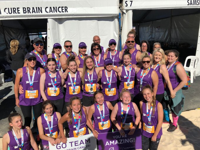 Give it up for everyone in #TeamCureBrainCancer who ran #City2Surf yesterday! Over 350 runners conquered the iconic 14km event, raising more than $228,000 for brain cancer research, advocacy & awareness. Also, a huge thanks to Volvo Rushcutters Bay for their generous support! Photo