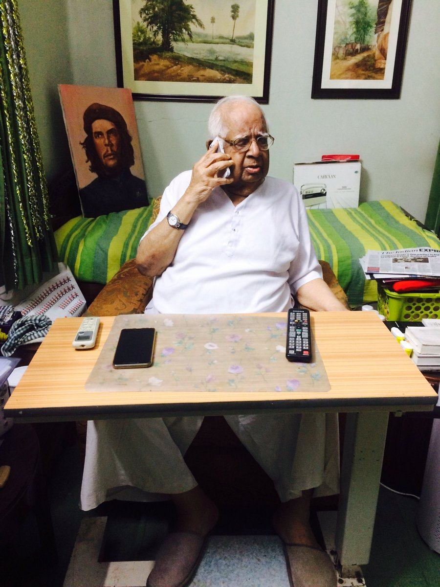 #SomnathChatterjee who served for 40 years in Politics takes his last breath!