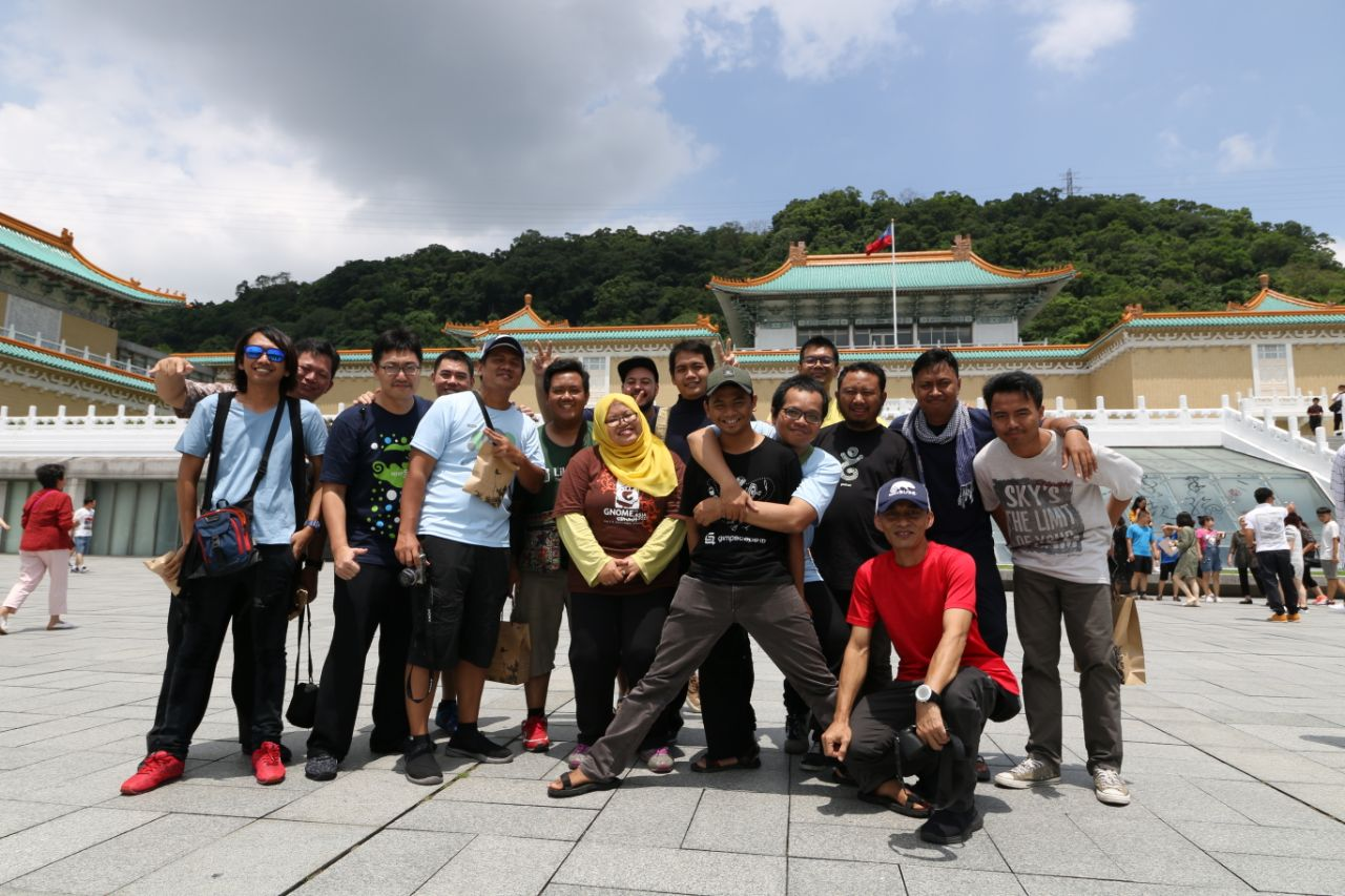 Kontingen Komunitas GNOME ID Saat Mengikuti GNOME.Asia Summit di Taipei Tahun 2018