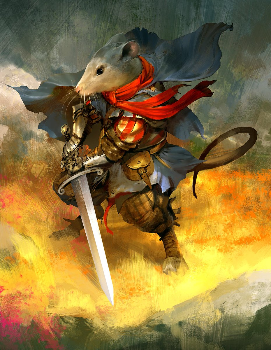 Martin the Warrior from the Redwall series of books #art #illustration #redwall #mouse #warrior