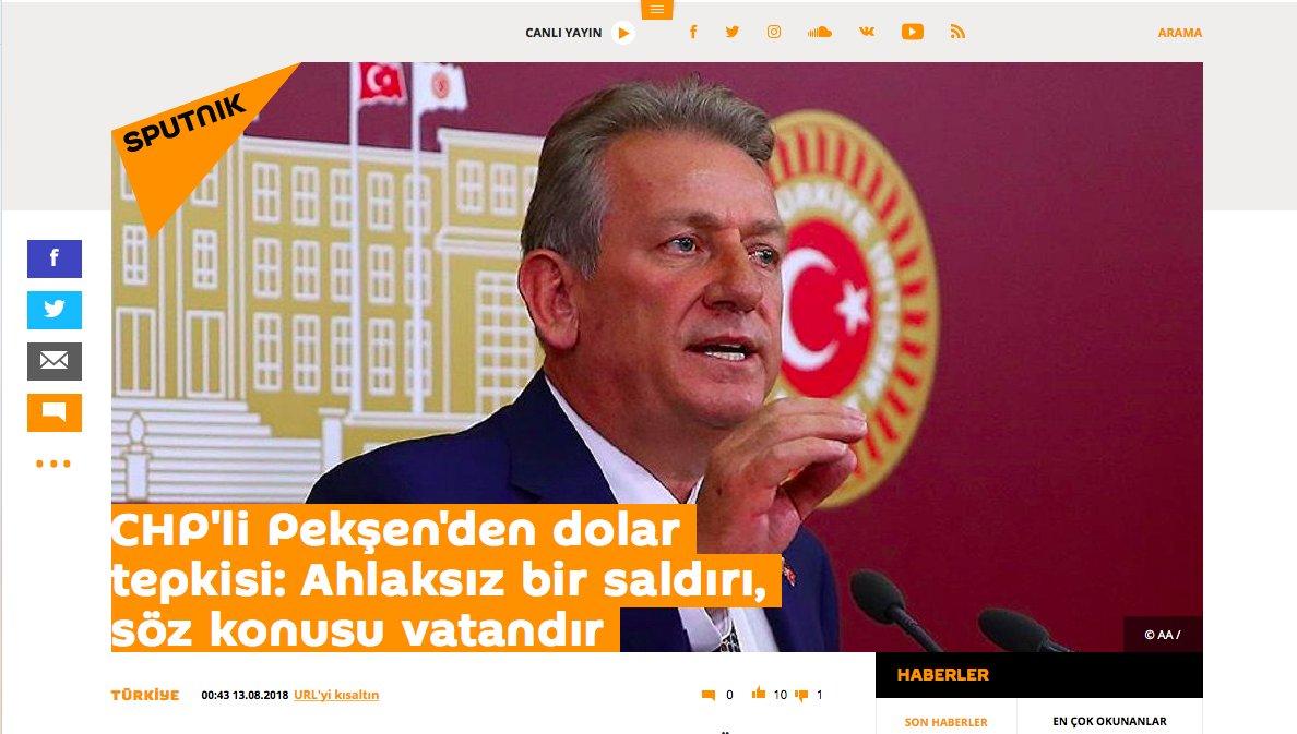 CHPli Pekşenden dolar tepkisi: Ahlaksız bir saldırı, söz konusu vatandır 69