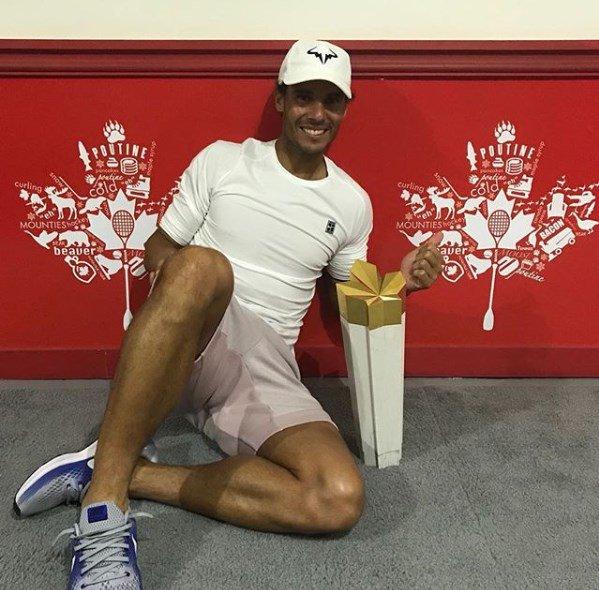 #TENISxESPN Cuarto título para Rafael Nadal en Canadá. Felicitaciones, crack. Photo