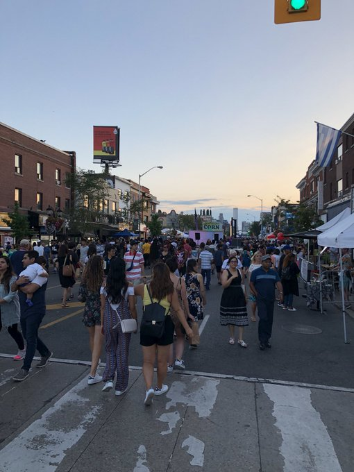 Good to see the Danforth hopping after the tragi events last month. #TasteoftheDanforth Photo