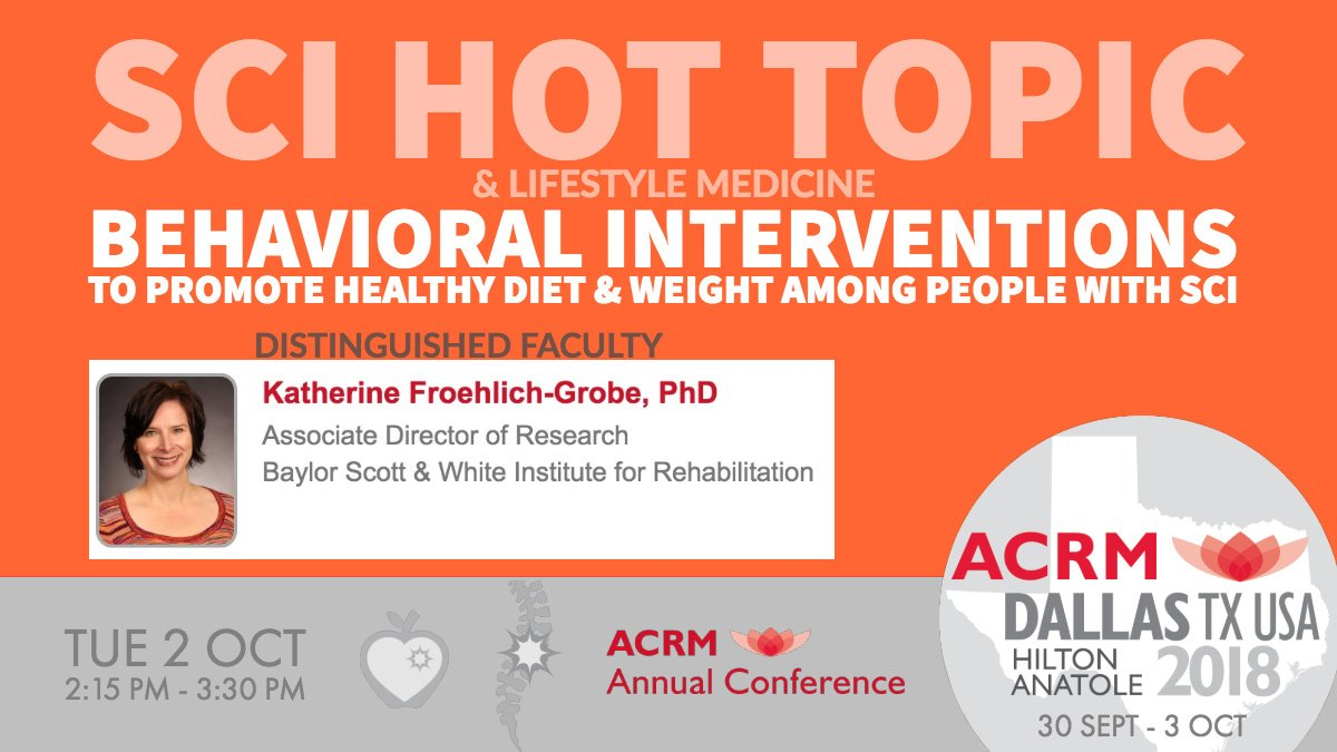 Hot Topic Behavioral Treatments For >> Acrm Spinal Cord Injury Group On Twitter Sunday Special