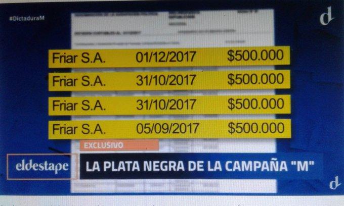 #DictaduraM Se gasta más de lo que tenemos no? Corrupción en la campaña de Cambiemos. Vamos con respuestas por los #AportantesTruchos Foto