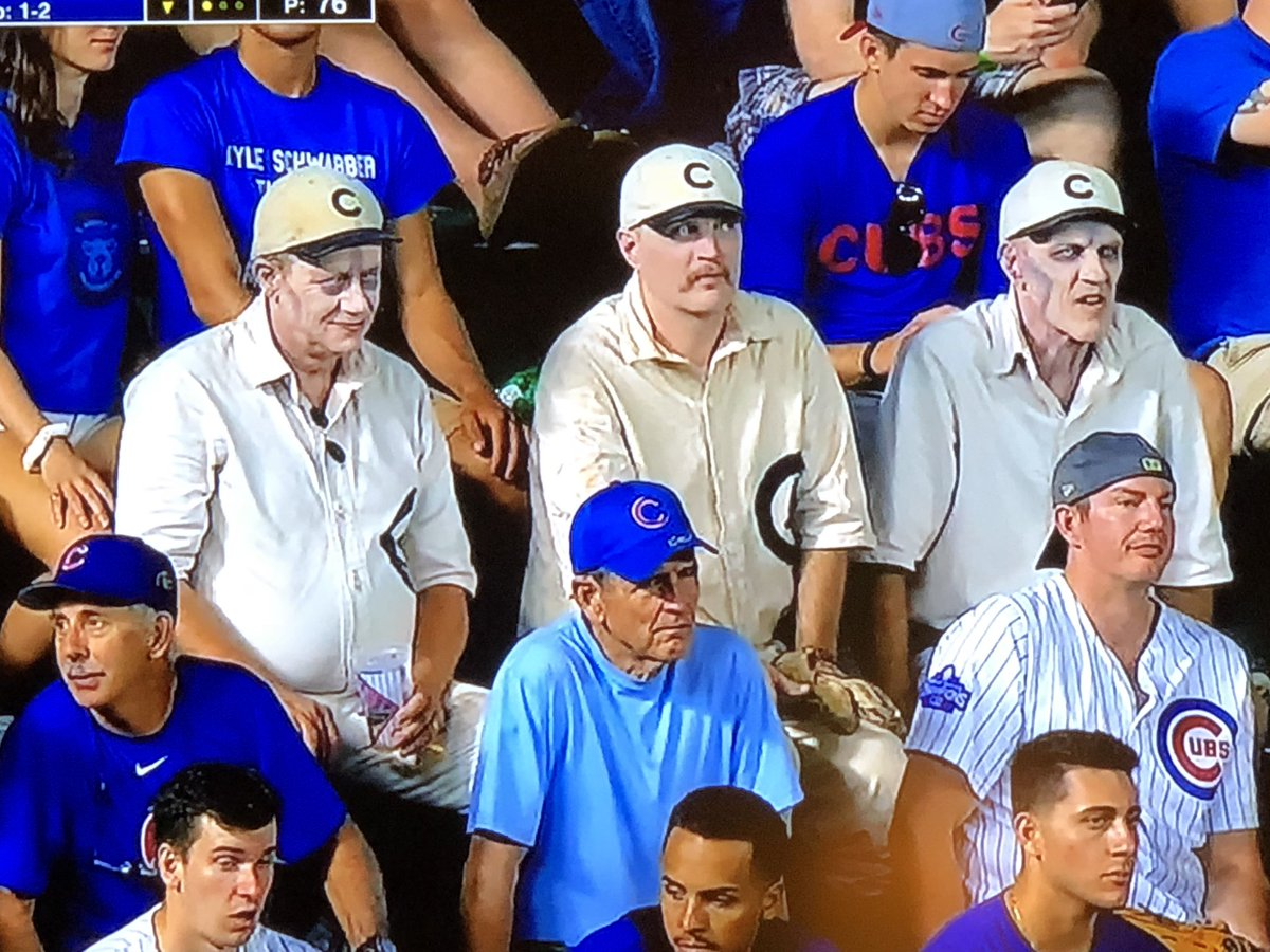 Perfect  Except these guys are portraying Mike Quade, Dale Sveum and Rich Renteria #Cubs