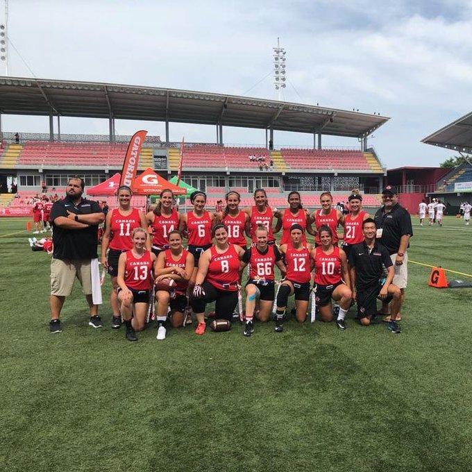 Canadian Women's National Team win bronze at 2018 IFAF Flag Football World Championships 🇨🇦 ---- CMFF 2018 : Les Canadiennes décrochent le bronze à Panama City #2018FFWC Photo