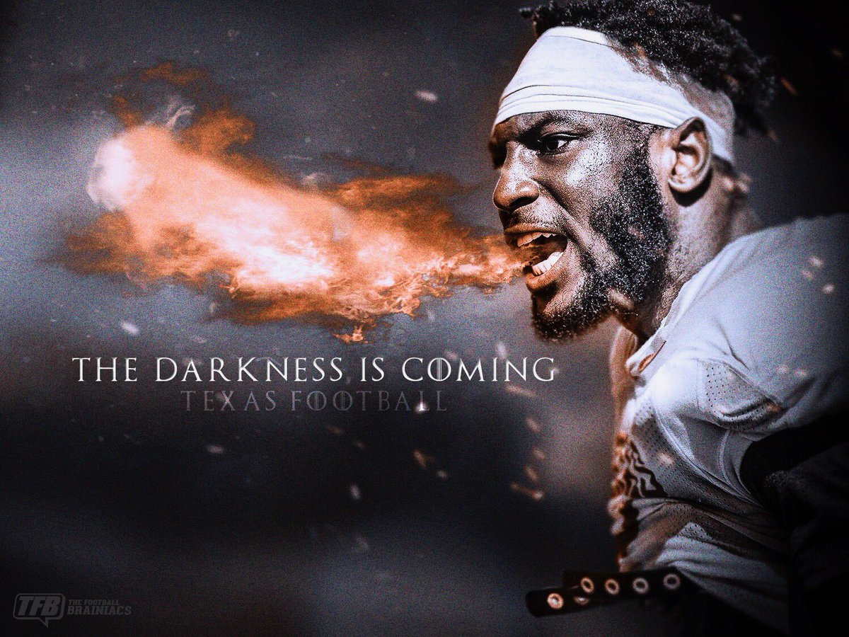 The Darkness is Coming. #HookEm<br>http://pic.twitter.com/VhNEqkYzrr