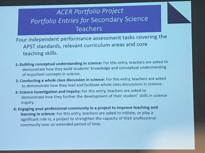 A template for assessment for #HALT Secondary science teachers- could be the shell for any subject - Lawence Invargson @acereduau @aitsl #RC2018 Photo