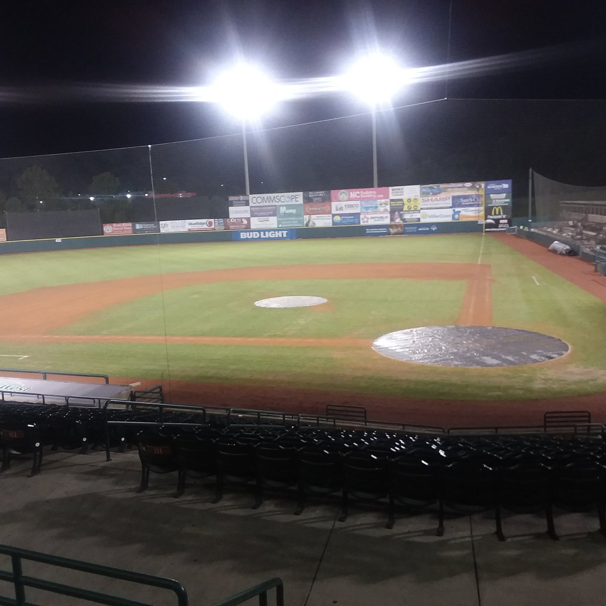 Something about an empty ballpark at night. I love this place!! My #homeawayfromhome! @HickoryCrawdads #dadsin18<br>http://pic.twitter.com/ceRFIZ52do