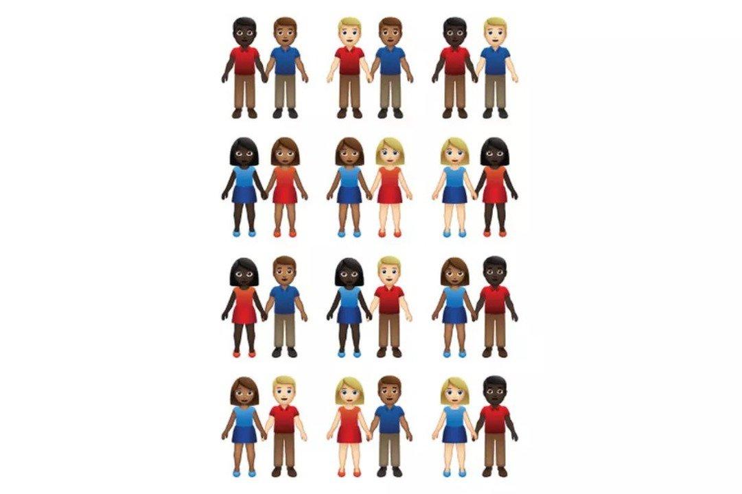 来年追加されるEmojiでは、性別と肌の色で55パターンのカップルが表せるように #Web #ニュース #アップル #デザイン https://t.co/M4Am1NUbcP