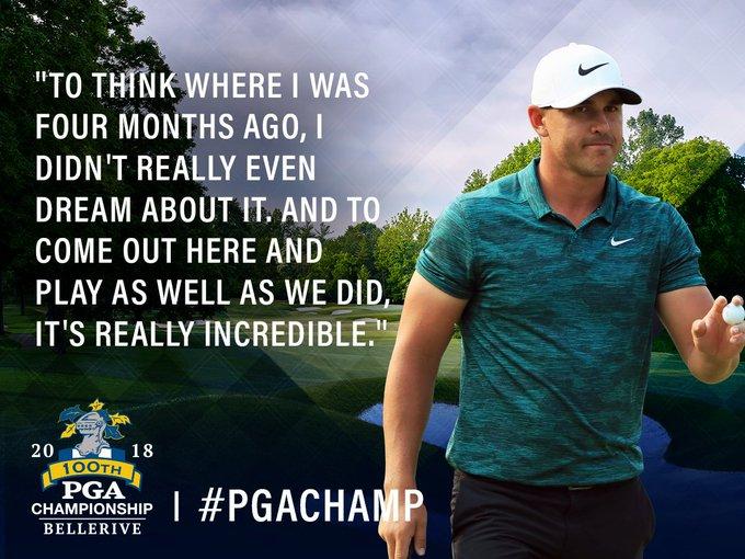 It feels good to be a three-time major champion. 🏆 🏆 🏆 @BKoepka #PGAChamp Photo