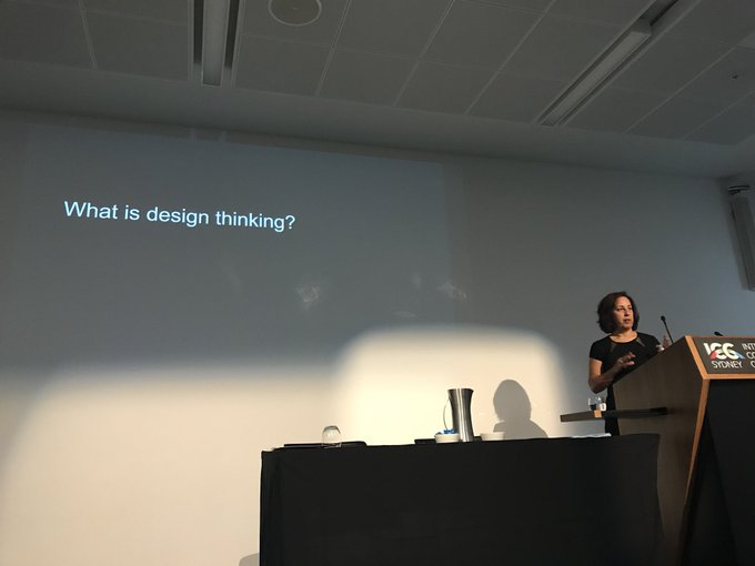 Professor Lori Lockyer presenting at Research Conference 2018. Her session is titled 'Enhancing learning and teaching through design practice'. #RC2018 @LLatUTS Photo