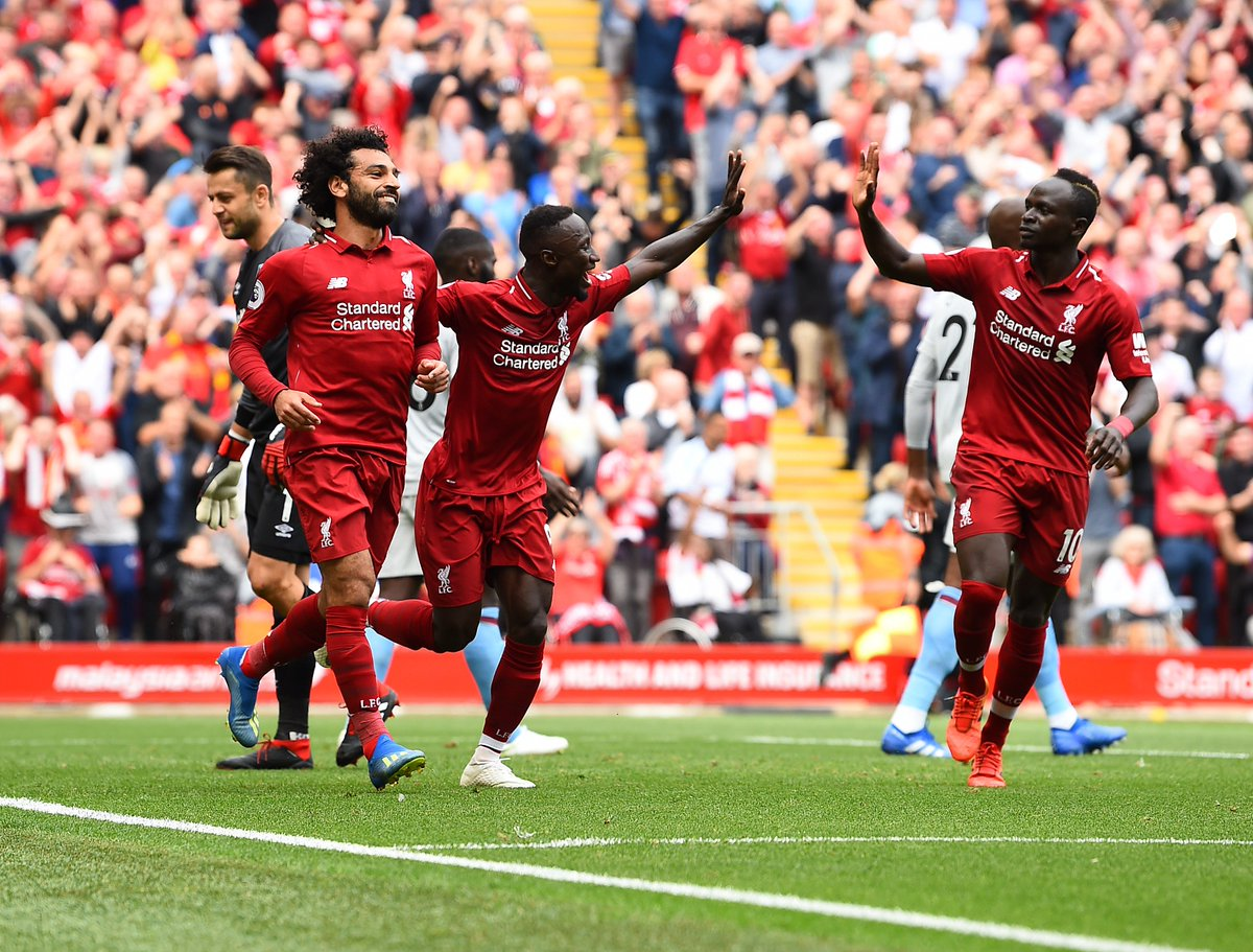⚡️ A thunderbolt start to the #PL campaign. Re-watch our #LIVWHU best bits or the full match on @LFCTV GO 👉 video.liverpoolfc.com Sign up now for a free month of @LFCTV GO: bit.ly/2nqLQu4