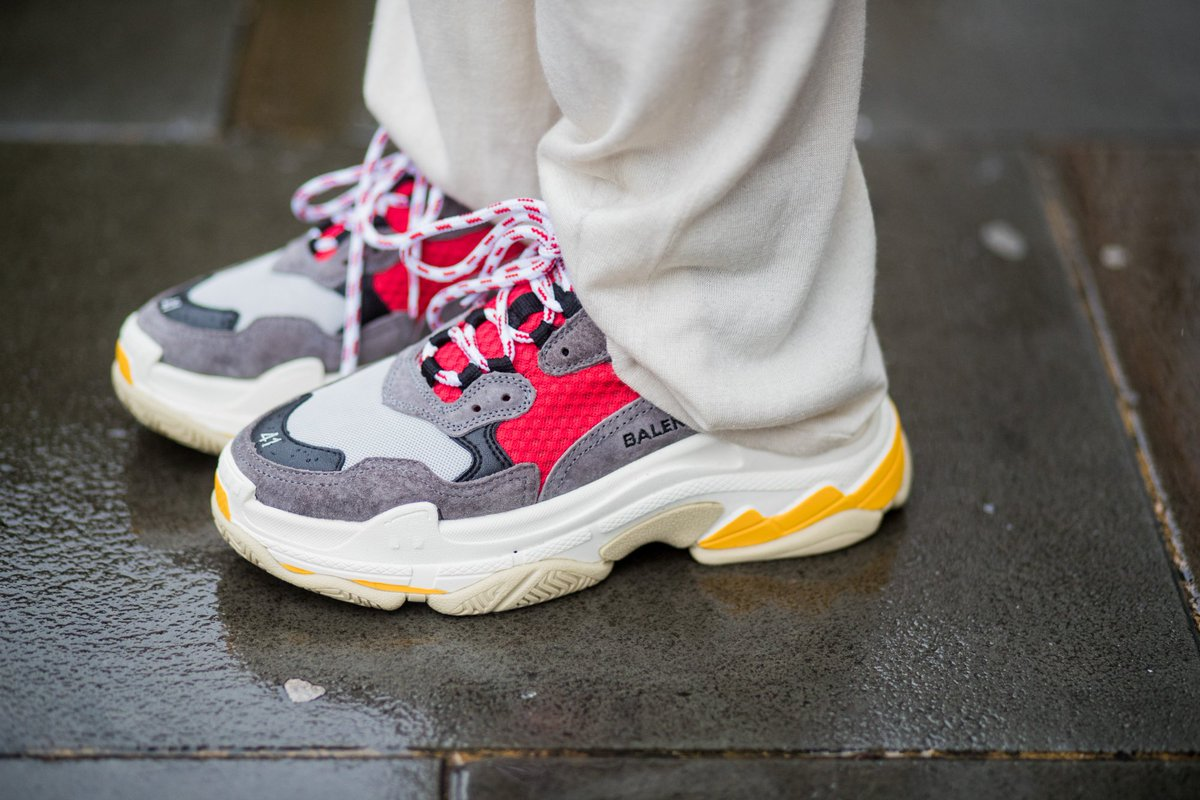 The chunky, ugly Dad shoe gives sneaker