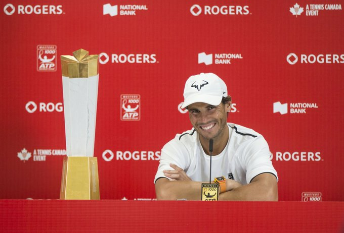 Rafael #Nadal skips Cincinnati Masters after Toronto title: I am very sorry to announce that I won't be playing in Cincinnati this year. No other reason than personally taking care of my body and trying to keep as healthy as I feel now. Photo