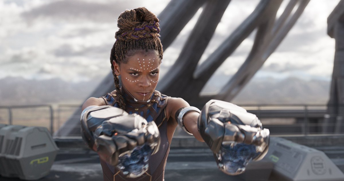 #WakandaForever! Congrats to your #TeenChoice Sci-Fi Movie, @theblackpanther and Actress, @letitiawright.