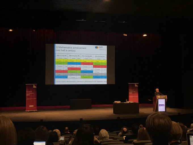 Professor Eckhard Klieme delivers the final keynote at Research Conference 2018. #RC2018 Photo