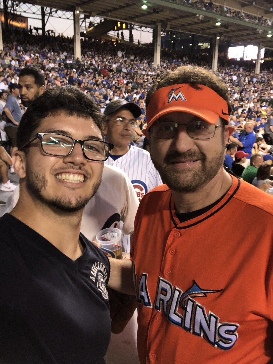 Just met @Marlins_Man tonight. Great guy!! Did not say no to anyone. The game was one for the books. <br>http://pic.twitter.com/n3p1yMqOHD