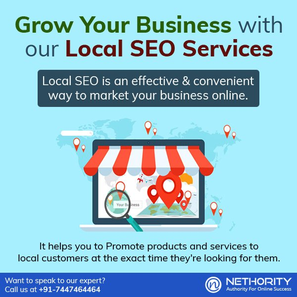 Local SEO Services At Nethority, we give equal importance to develop your local market and to stay ahead of your competitors considering all local factors.Know more:  https://www. nethority.com/packages/local -seo-package &nbsp; …  … #SEOSerivices #LocalSEO #Business #localseo #SEO  #SearchEngineOptimization<br>http://pic.twitter.com/P6pQMVBVJG