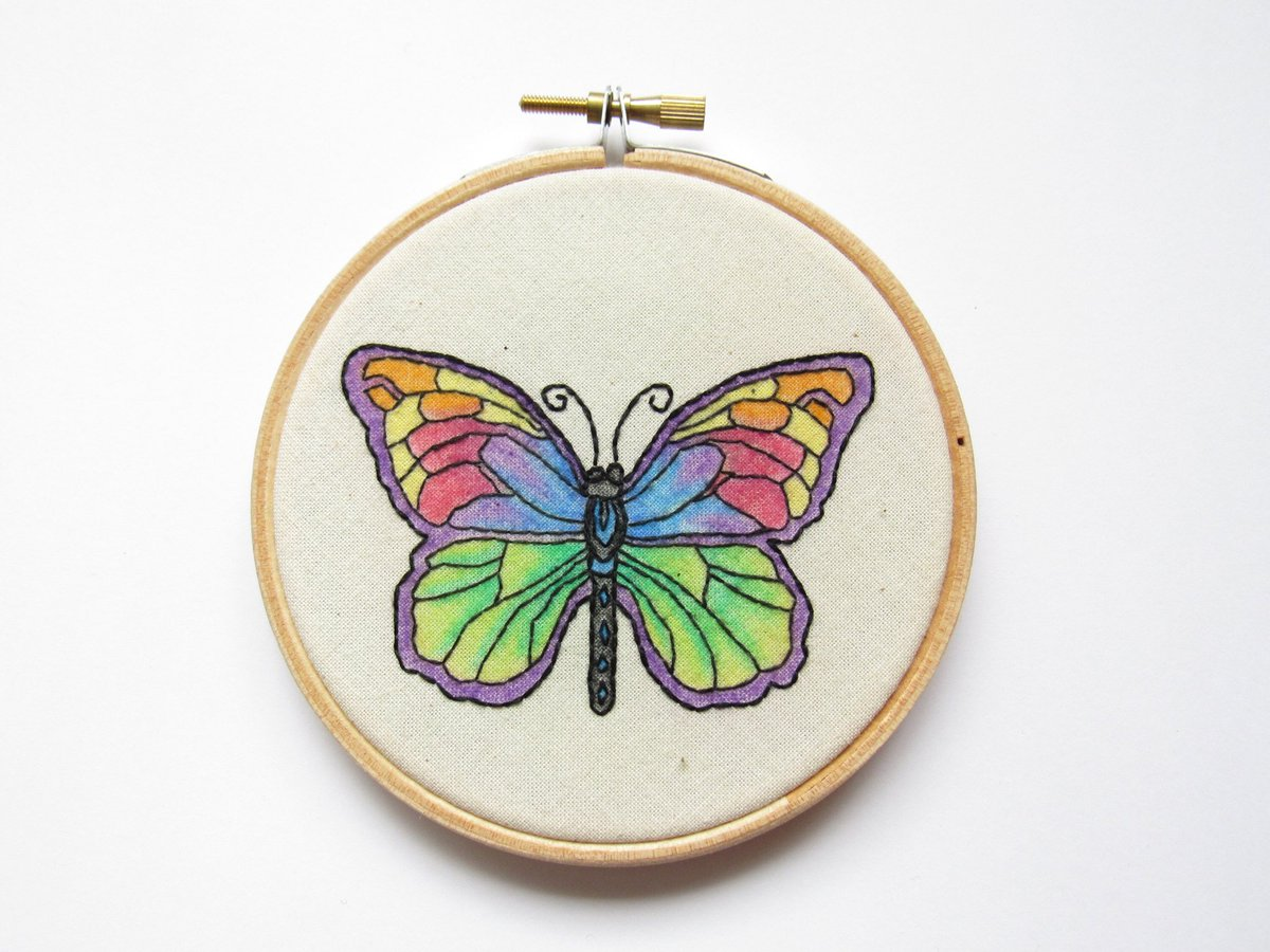 Good morning #Twitter you're all going to be fabulous this week  #MondayMotivation  Excited to share this item from my #etsy shop: Butterfly embroidery #wallart #giftidea    https:// etsy.me/2KO0HrM  &nbsp;    #supportsmallbusiness #EarlyBiz #TheCraftersUK #87RT #ButterflyCount<br>http://pic.twitter.com/hW2bzR6bGZ