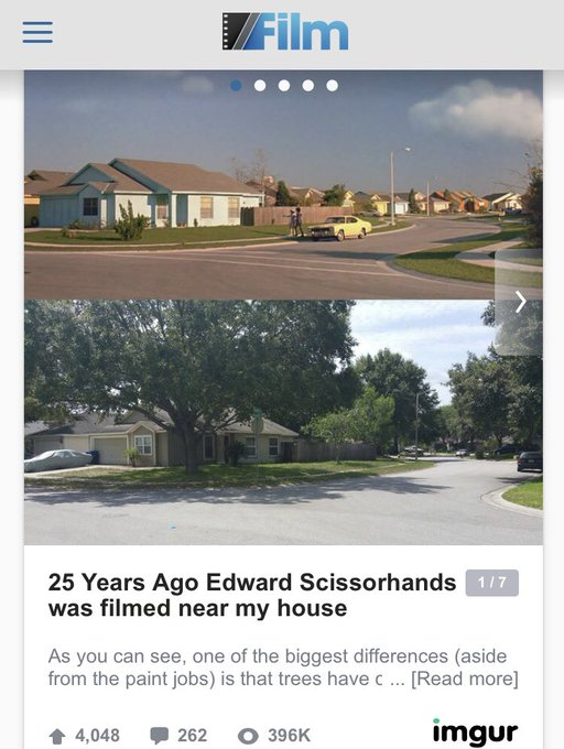 """But anyone who cares, I used to live somewhere between the houses they used for Edward Scissorhands and never repainted and the the nudist capital of the world"""" where they once shot an episode of a reality show. Florida is a place where lots happens😅 Photo"""