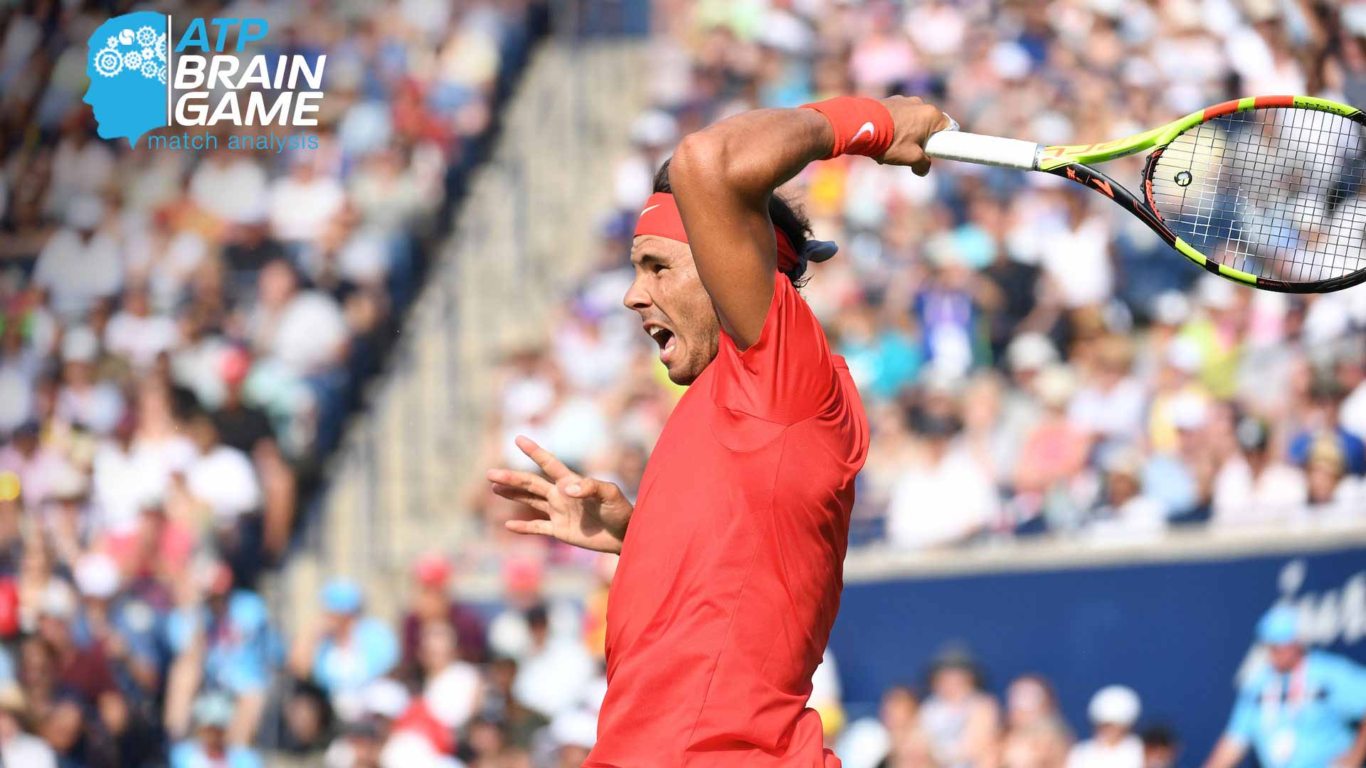 .@RafaelNadal's serve +1 adds up to lots of trouble in the @rogerscup final.  Read More ▶️ https://t.co/WcwFJq6KWT https://t.co/acuvUegNMX