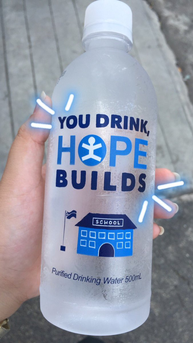 """Hey guys if you're near at any 7-eleven stores and you're thirsty go grab """"YOU DRINK, HOPE BUILDS"""" it would be a big help to our fellow filipino children! 100% of its profit from this drink will help build public school classrooms  hydrated ka na, naka help ka pa  <br>http://pic.twitter.com/xQzgOz8z9Z"""