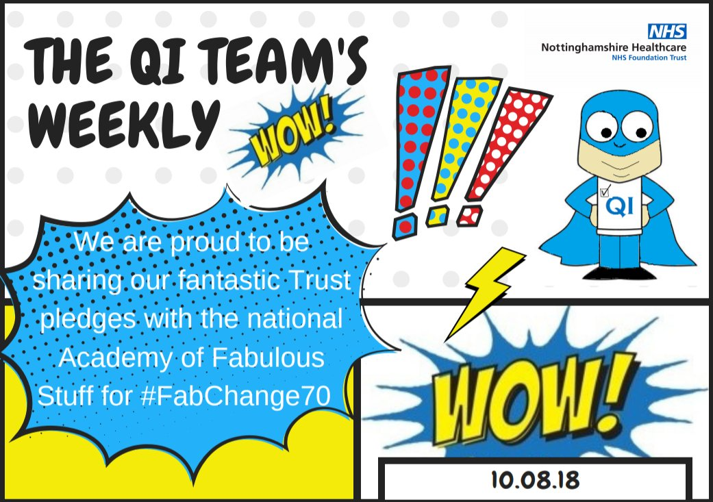 Our Weekly Wow 10.08.18! We are proud to have shared some of our Trust Fab Change Week Pledges with the national #FabChange70 Team - at their request!  We will be sending them lots more for uploading to the national site  https:// fabnhsstuff.net / &nbsp;    #QInottshc  @NottsHealthcare<br>http://pic.twitter.com/hNZs2ztdh5
