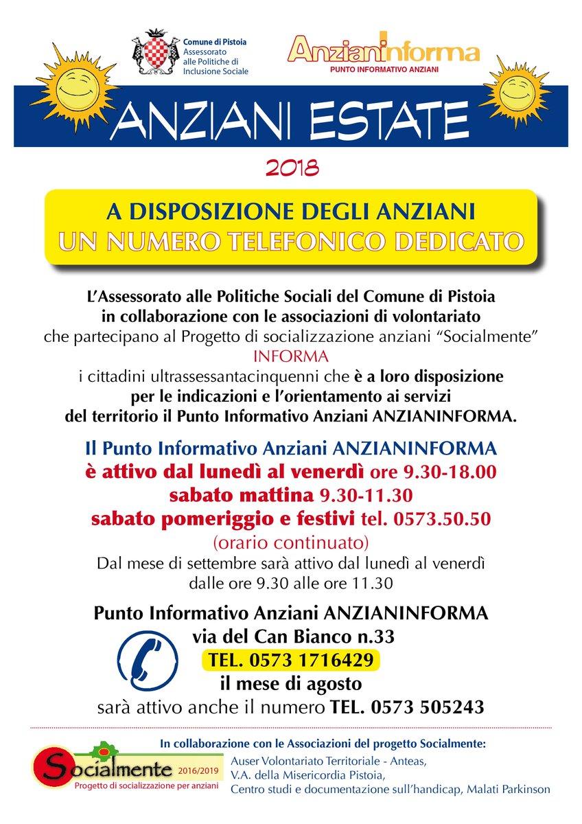 #Pistoia #Anziani: Un numero telefonico a disposizione per informazioni e aiuto durante l'estate https://bit.ly/2OkocLX  - Ukustom