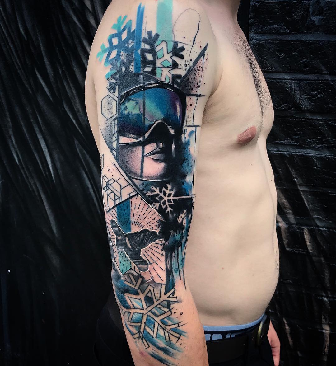 Killer Ink Tattoo On Twitter Dope Half Fresh Half Healed Piece By Tom Petucco With Killerinktattoo Supplies Killerink Tattoo Tattoos Bodyart Ink Tattooartist Tattooart Snowboarding Https T Co X1inoutjio
