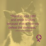"Image for the Tweet beginning: ""Stand in your light and"