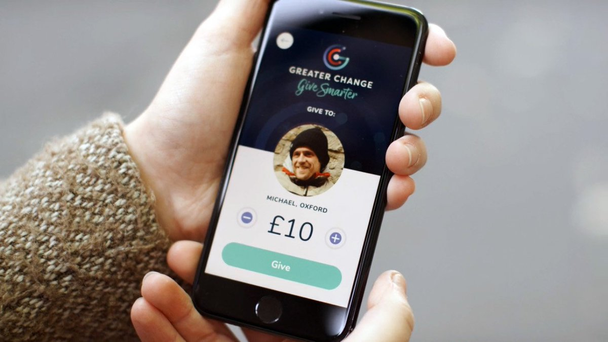 Economics and Management alumnus Alex McCallion is the founder of Greater Change, a start up that helps users donate to the homeless in an increasingly cashless society. Watch this BBC video to learn how it works:  https://t.co/qZzDikZuWe @GreaterChangeUK @OxUInnovation