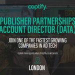 Captify is hiring! Explore this exciting new opportunity in London: https://t.co/H9BKUr9iT5 #captifycareers #captify #adtech #media