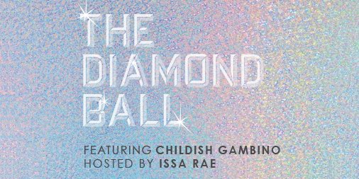 So excited to announce that my sis @IssaRae is hosting this year's #DiamondBall in exactly one month!! AND @donaldglover is closing out the night with a special performance! SEPT. 13. NYC. Find out how you can attend at 2018diamondball.com 💎 @claralionelfdn