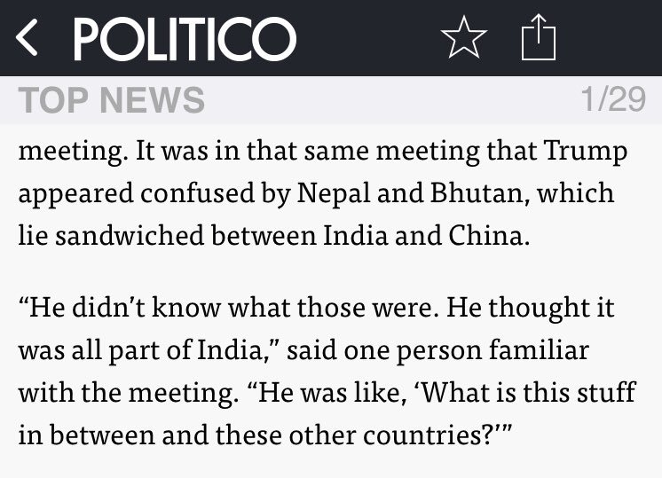 Trump didn't even know that Nepal was a country when he made this decision <br>http://pic.twitter.com/c1S48qw80L