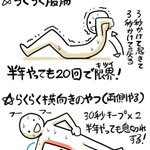 ムキムキで疲れにくい体ができる?らくらくできる体幹トレーニングがこれ!