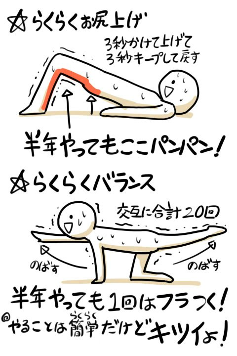 ムキムキで疲れにくい体ができる?らくらくできる体幹トレーニングがこれwww