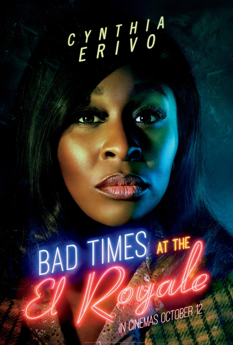 You can't trust anyone. Catch Bad Times At The El Royale starring @CynthiaEriVo as Darlene Sweet. In cinemas October 12.<br>http://pic.twitter.com/F5kZ4mxb1s