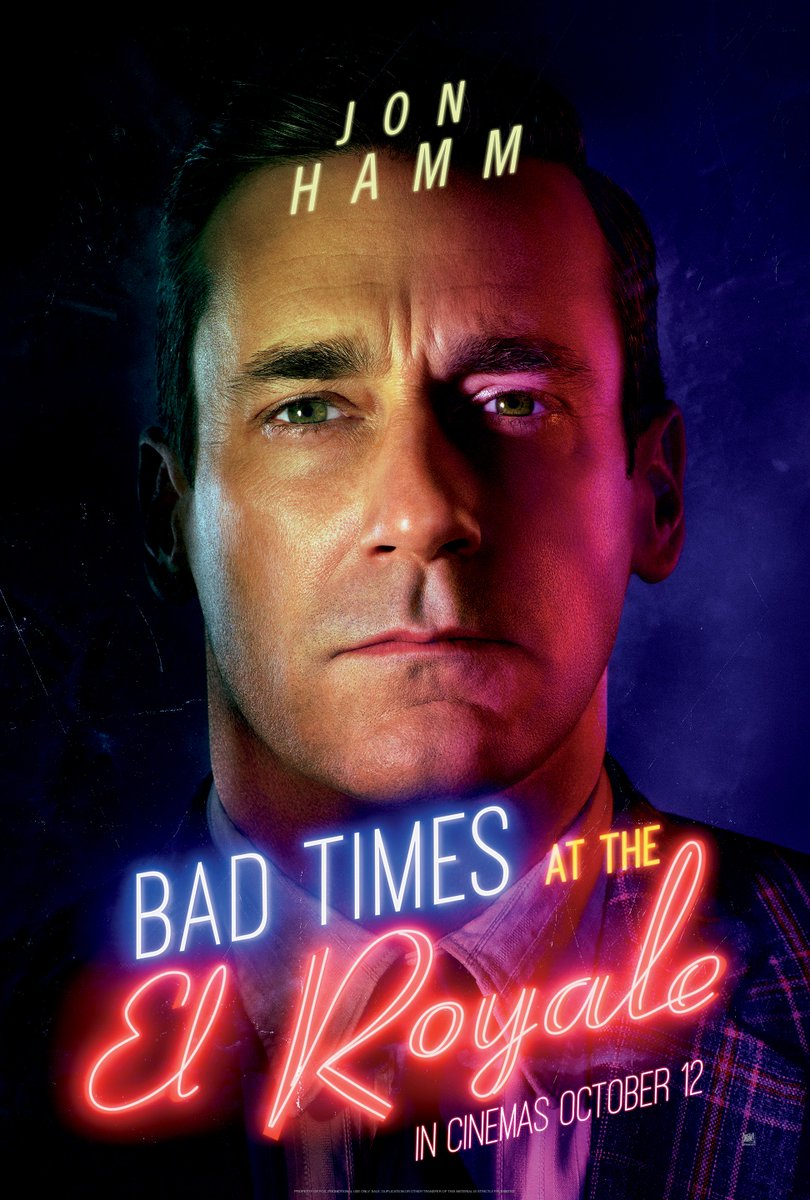 Jon Hamm checks in as Laramie Seymour Sullivan. What is his secret? Bad Times At The El Royale, in cinemas October 12. <br>http://pic.twitter.com/vpVv6QYj7s