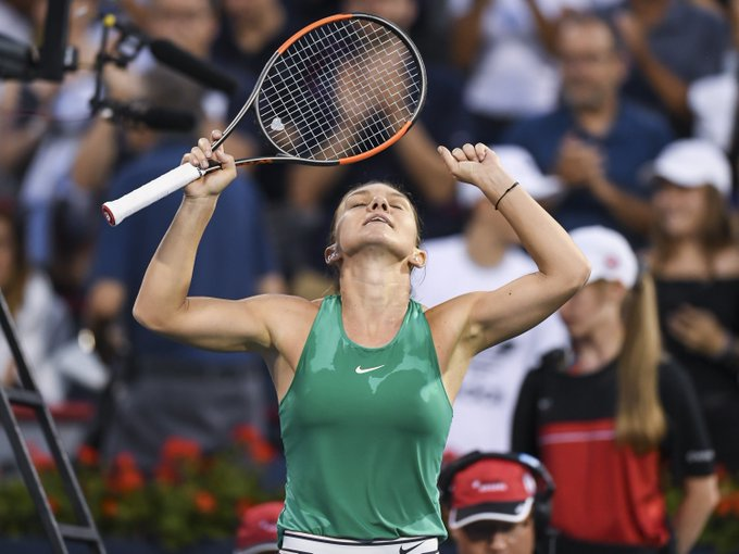 .@Simona_Halep is the @CoupeRogers champion for the second time in her career! The story of the tournament in 📷--> Photo