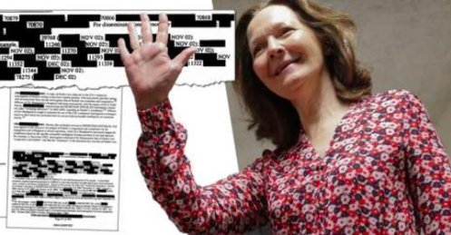50 Shades of CIA:  His &quot;deep measured voice&quot;, &quot;flicks of his tongue&quot;, his &quot;piercing gaze&quot; and the &quot;hulking, muscled guards&quot;. CIA Director Gina Haspel leading suspect in erotic CIA torture reports released after judicial order.  https:// nsarchive2.gwu.edu//dc.html?doc=4 704836-Document-16-Thailand-black-site-report-to-CIA &nbsp; … <br>http://pic.twitter.com/e7rsTboJZC