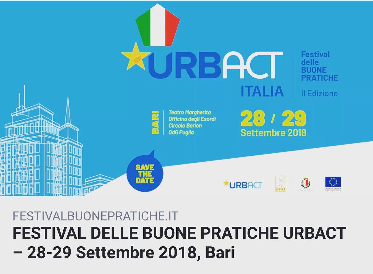 Ecco i temi che saranno affrontati nel corso del festival delle buon pratiche #urbact che si svolgerà a #Bari nel mese di settembre. #rigenerazione degli spazi in disuso per cambiare la città, #innovazionesociale, #benicomuni,  #periferie e tanti altri temi.#sicurezzaurbana  - Ukustom