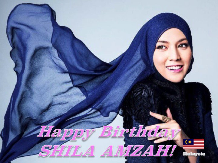 Happy 28th Birthday to Malaysian Superstar #ShilaAmzah! @Shilaamzah  👏🇲🇾🎶🎤🎂🎉🎁🎈💐😍🌟💫🎇