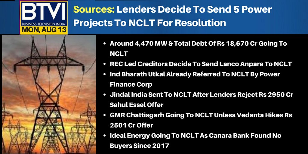 #BTVIExclusive 5 Power Projects Head To NCLT   #Live https://t.co/cRN0uPPJzl