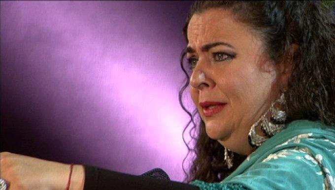 #Flamenco cantaora sevillana María José Carrasco (Los Palacios y Villafranca, 1974) gana Lámpara Minera 2018 en Festival de Cante de las Minas de La Unión. La recuperamos cantando por vidalita en 2017 @canalsur Foto