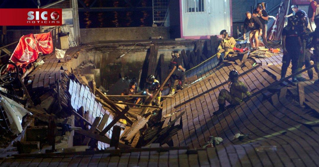 Colapso de plataforma num festival em Vigo faz mais de 300 feridos, cinco menores em estado grave... https://t.co/Bttwu2fXjb