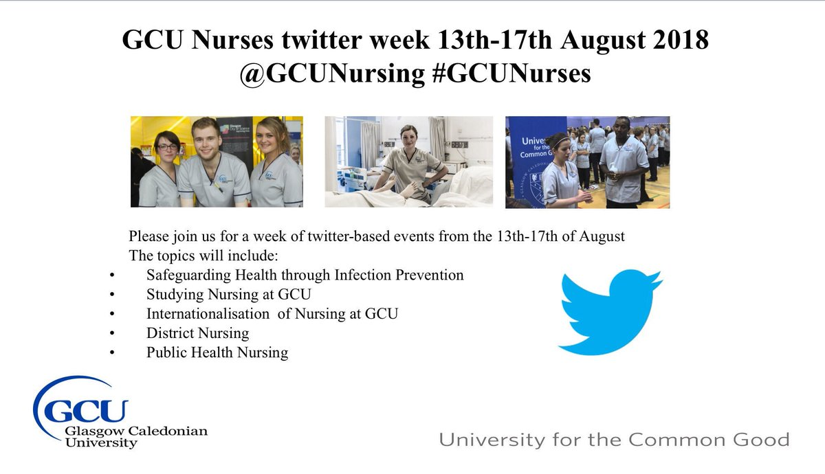 We're proud of our track record in applied research, and this week our @GCUNursing community is showcasing life changing #health research, practice and policies on Twitter. Follow #GCUNurses to join in<br>http://pic.twitter.com/GrLDUCH4Mj